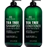 Botanic Hearth Tea Tree Shampoo and Conditioner Set - with 100% Pure Tea Tree Oil, for Itchy and Dry Scalp, Sulfate Free…