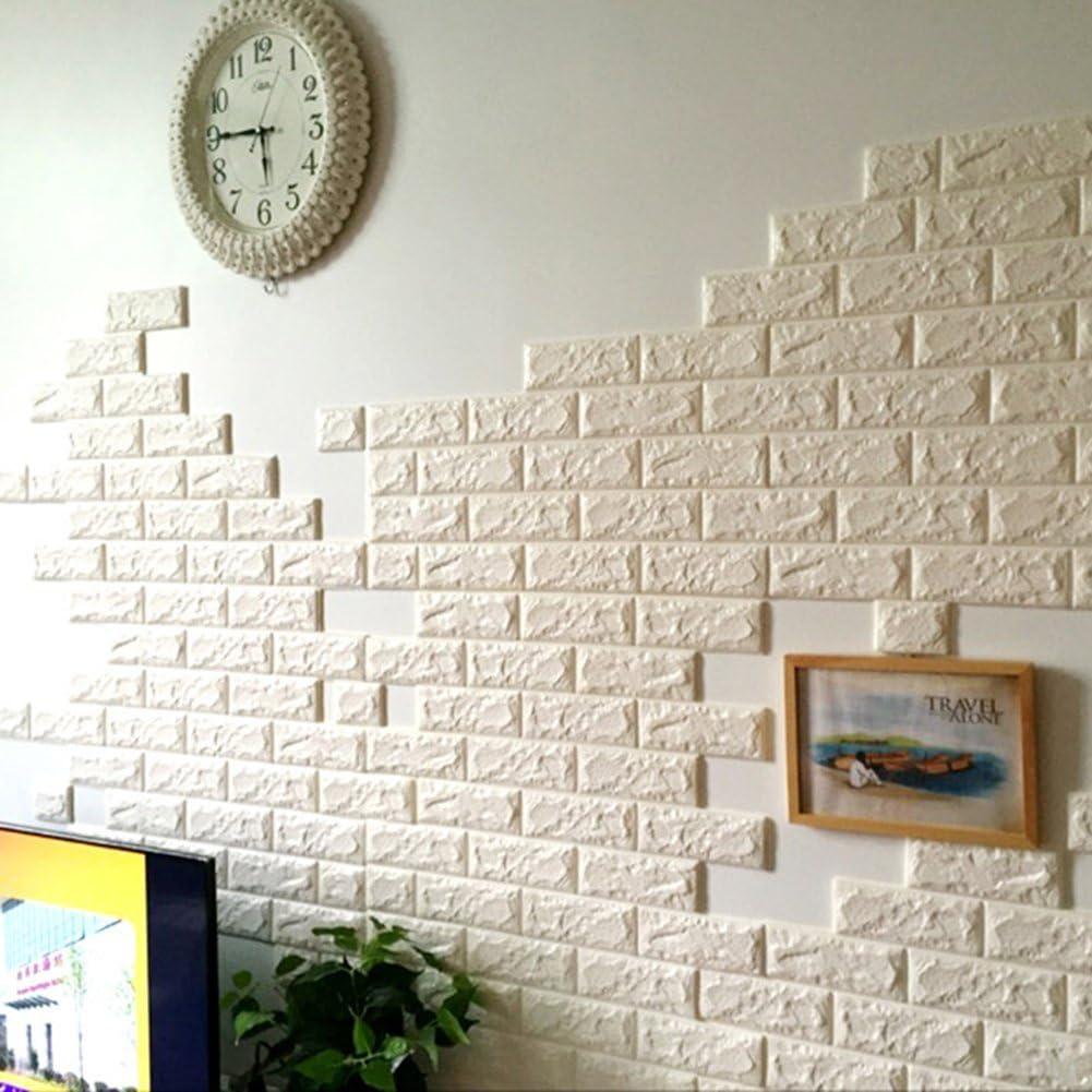 - Amazon.com: Jintuo 3D Brick Pattern Wall Stickers Peel And Stick