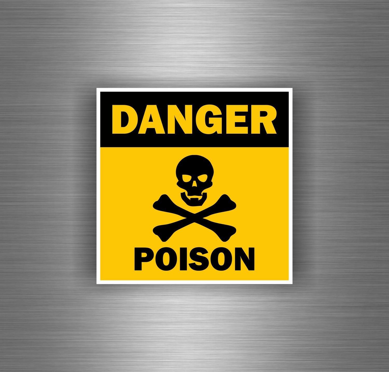 Autocollant sticker voiture moto tuning jdm bomb danger poison tete de mort akacha SKU006572