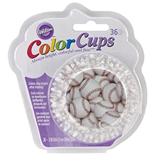 Wilton Standard Baking Cups, 36-Count, Baseball Color