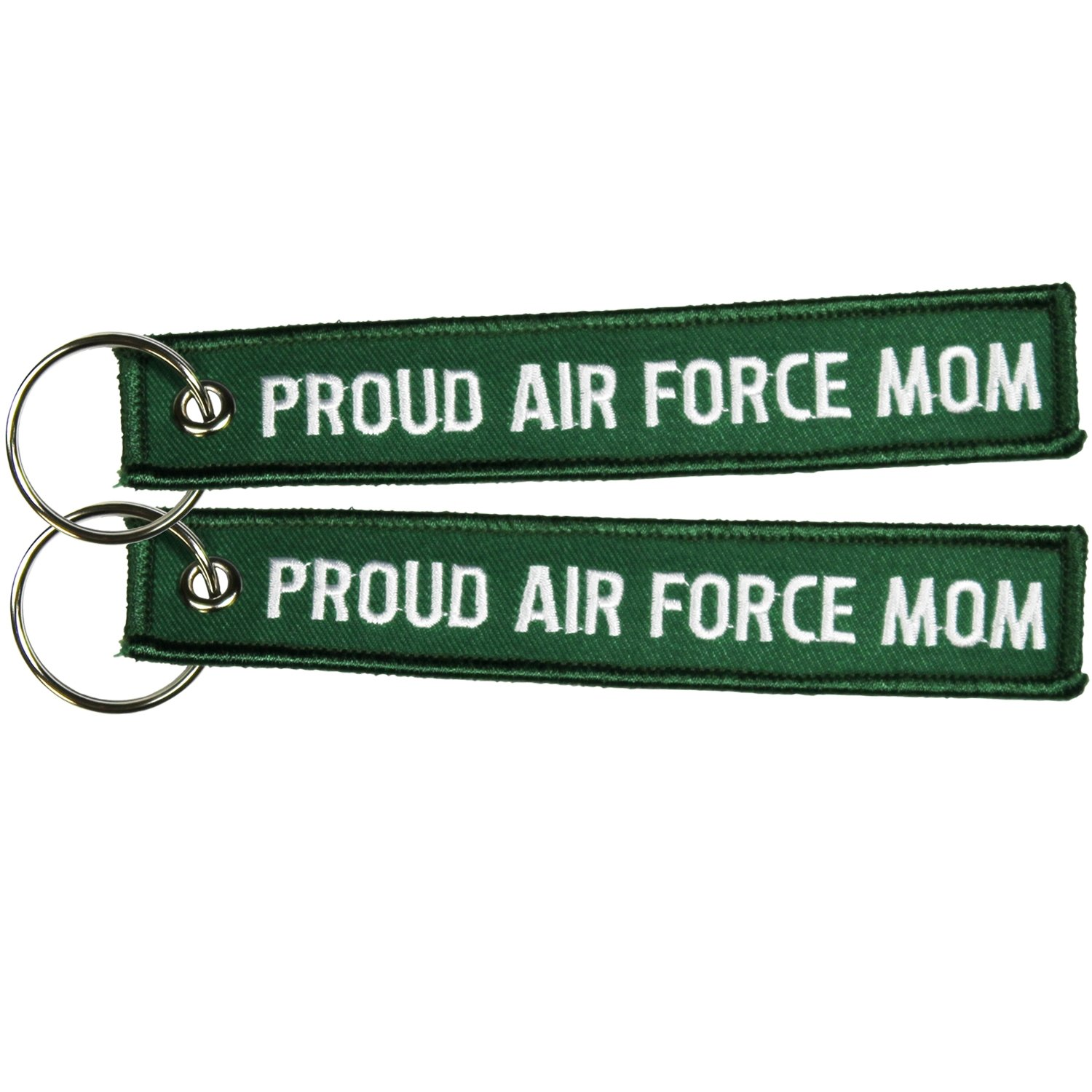 Green Eagle Crest Proud Air Force Mom Key Chain