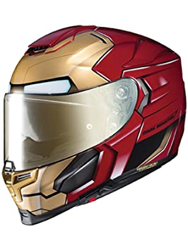 Casco Moto Hjc Marvel Rpha 70 Ironman Homecoming Rojo-Oro (L , Rojo)