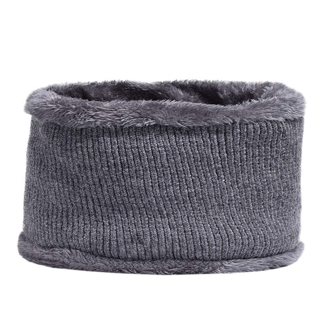 ACVIP Men's Fleece Lining Cold Weather Neck Gaiter Scarf (grey)