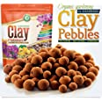 Organic Expanded Clay Pebbles Grow Media for Orchids, NFT DWC Hydroponics, Aquaponics, Aquaculture Plant Garden Soil Conditio