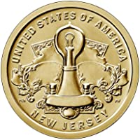 2019 P, D American Innovation New Jersey - Edison Bulb $1 Coin - P and D 2 Coin Set Uncircualted