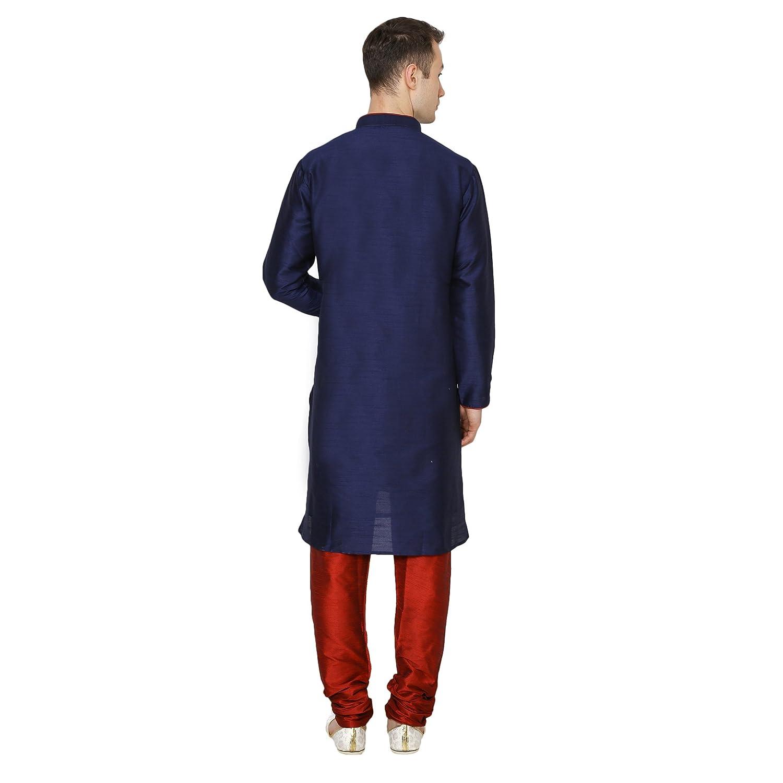 Royal Kurta Mens Designer Silk Blend Kurta /&Churidhar