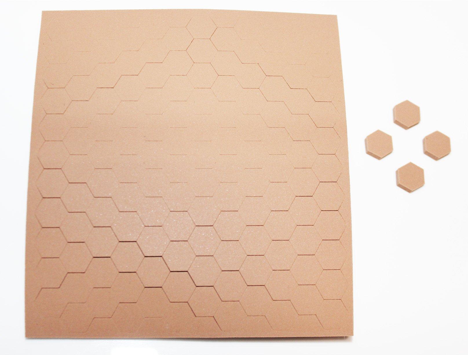 3M SJ5201 Light Brown Bumpon Blister Pack (132 Bumpons) 0.433 in x 0.125 in
