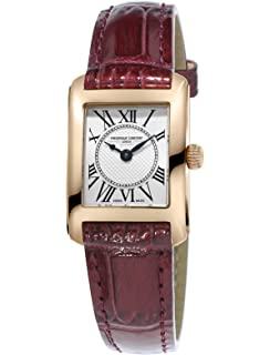 Frederique Constant Womens Carree Swiss Quartz Stainless Steel and Leather Casual Watch, Color