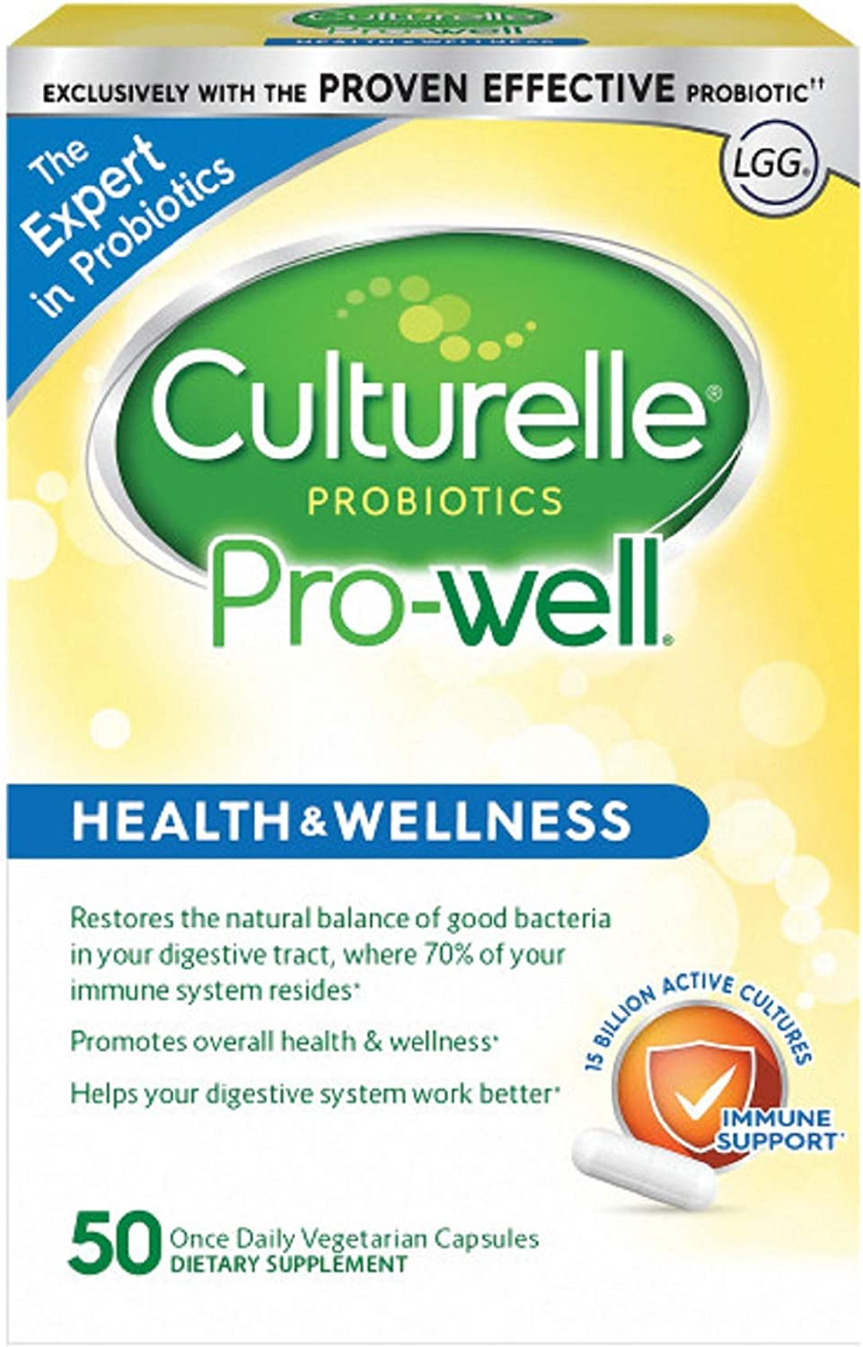Culturelle Pro-Well Health & Wellness Daily Probiotic Dietary Supplement