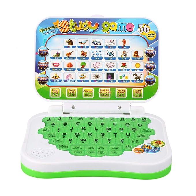 Multifuncional de Seguridad de Plástico Temprano Interactivo Mini Aprendizaje Educativo Máquina de Computadora Juguetes para Niños Niños (Color: Amazon.es: ...
