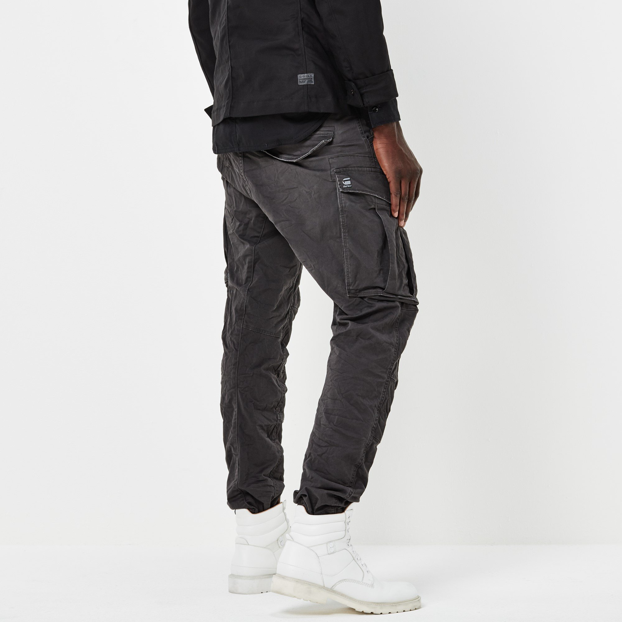 G-Star Raw Men's Rovic Zip 3d Tapered, Raven, 38x34 by G-Star Raw (Image #2)