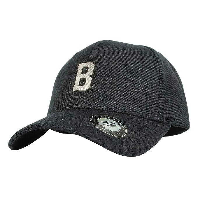 WITHMOONS Gorras de béisbol Gorra de Trucker Sombrero de Baseball Cap B  Letter Metalic Patch Boston 755fee4e75a