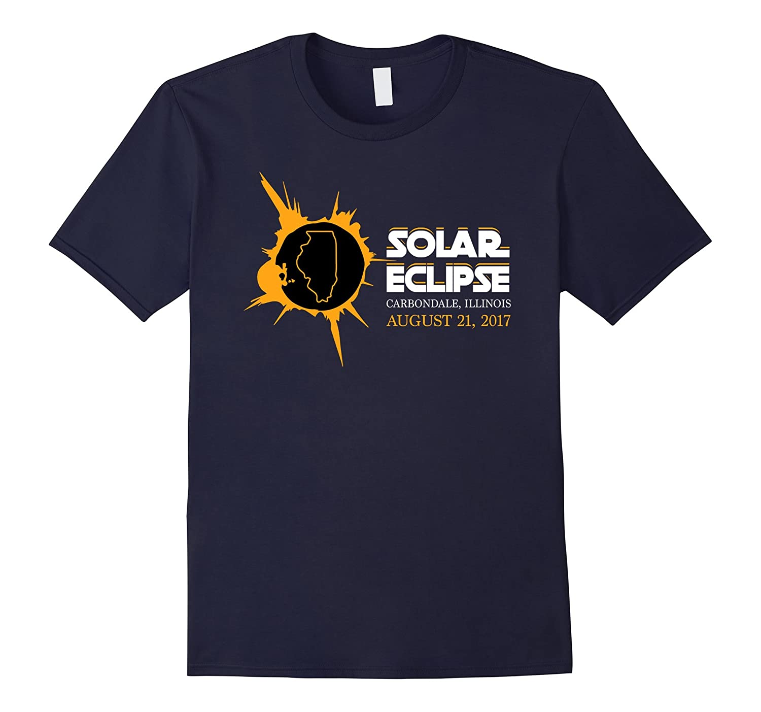 Carbondale Illinois Map Circle Total Eclipse 2017 T-shirt
