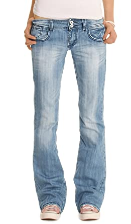 bee2c170520e bestyledberlin Damen Jeanshosen, Hüftige Regular Fit Jeans, Basic Boot-Cut  Jeans j06x  Amazon.de  Bekleidung