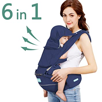 9dfbb0bdb3d Amazon.com   Windsleeping 360° Ergonomic Baby Carrier with Hip Seat ...