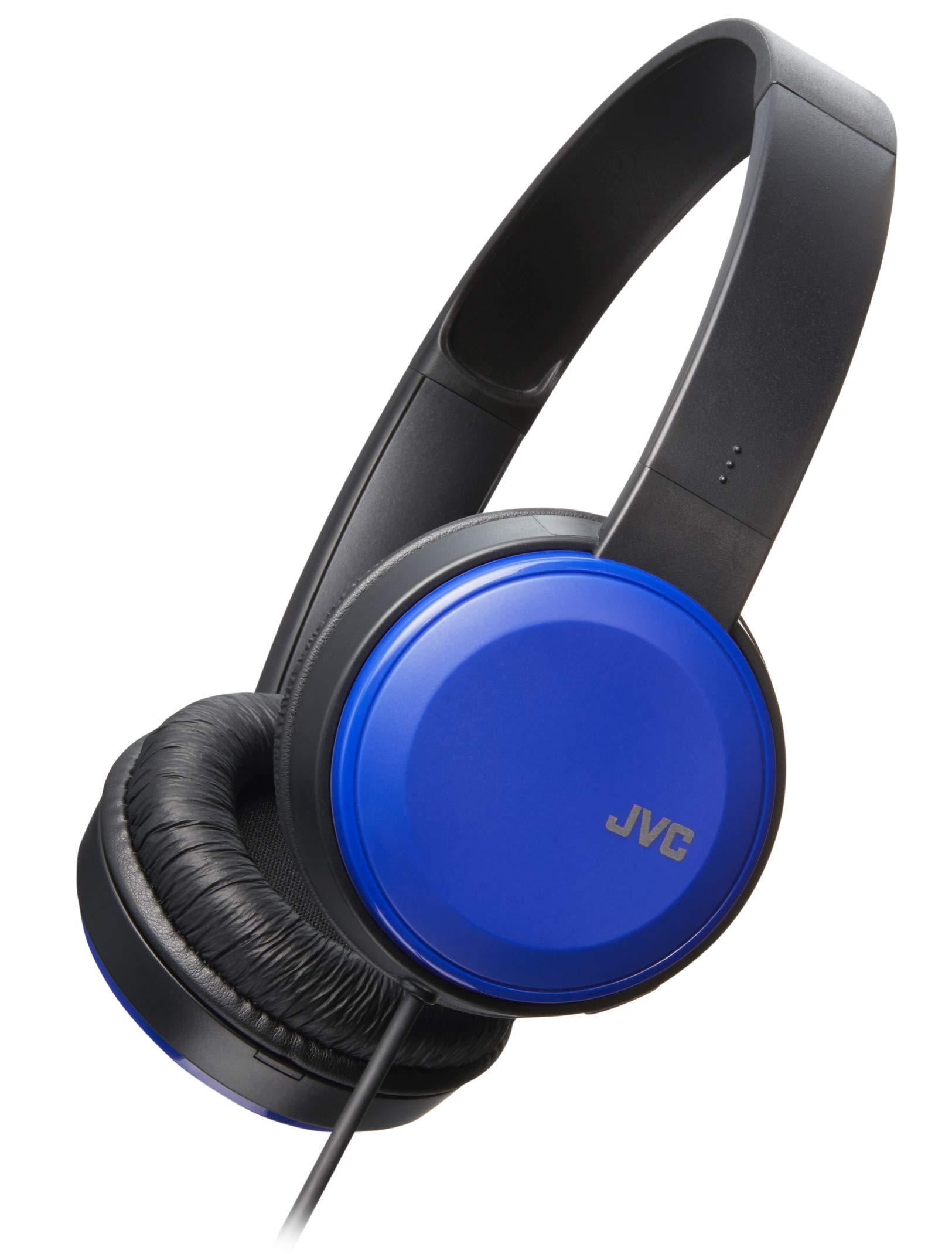 Auriculares JVC Liviano Flat Plegable on-Ear Colorful Liviano Headband con Mic Blue (HAS190MA)