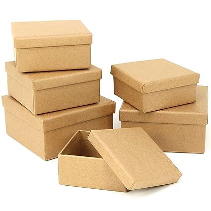 com-four® 6X Cajas de Regalo, Cajas de cartón apilables para ...