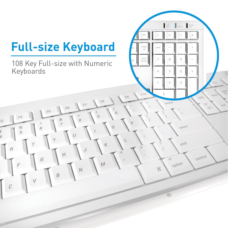 Amazon macally wireless bluetooth full size keyboard btkey amazon macally wireless bluetooth full size keyboard btkey for mac and pc white electronics buycottarizona Image collections