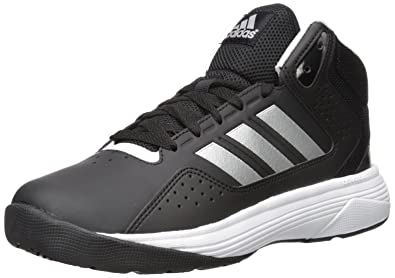 Adidas Neo Men's Cloudfoam Ilation Mid Wide Basketball Shoe, Black/Matte  Silver/White