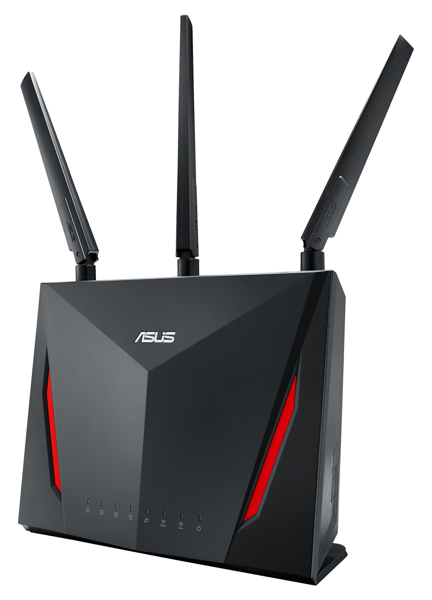 ASUS RT-AC86U Dual Band Wireless Router AC2900 WiFi with 4-Port Gigabit LAN, 1.8GHz Dual-Core Processor, USB 3.1 Gen1 and Aiprotection Network Security Powered by Trend Micro by Asus