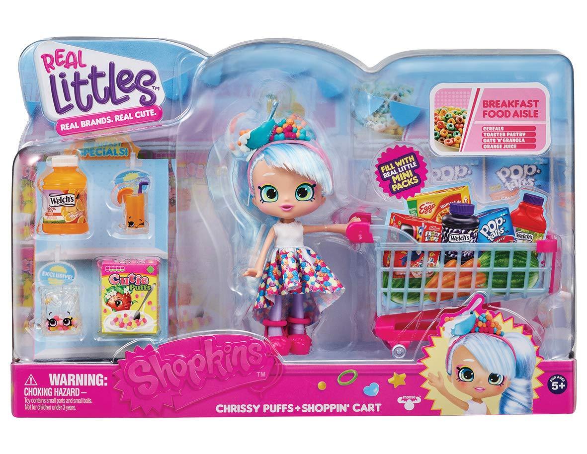 Shopkins HPKG1000 Real Littles Mini-Packs Trolley /& Shoppie