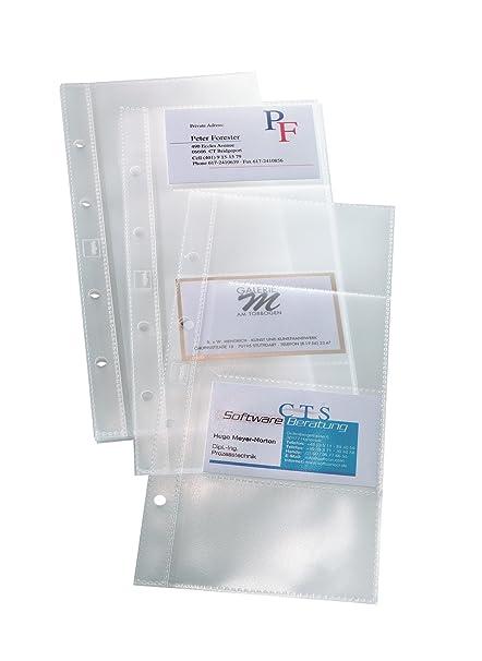 Sigel Vz350 Hüllen Für Einreihige Visitenkarten Ringbücher Vz300 Und Vz204 Für 80 Karten 10 Stück