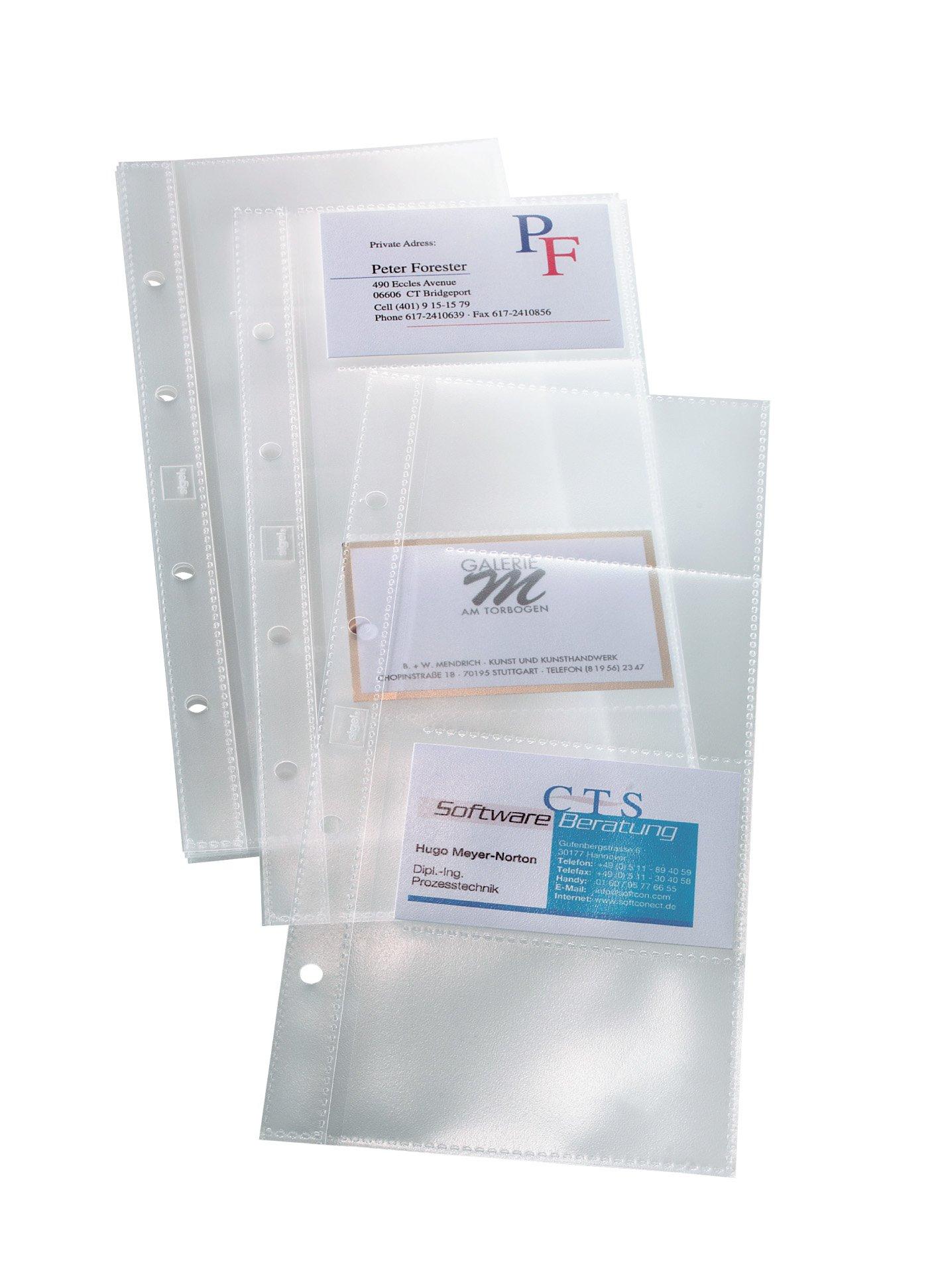 Sigel VZ350 - Fundas para tarjetas de visita, para hasta 80 tarjetas (máximo 90