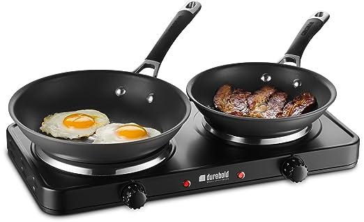 Amazon.com: Encimera de cocina doble de hierro fundido ...