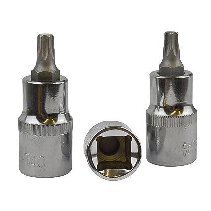 tool set US PRO T20 Torx male TX socket driver 55mm small length 1/2 drive inc VAT
