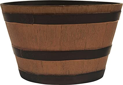 Amazon Com Southern Patio 077030 Hdr Whiskey Barrel Planter
