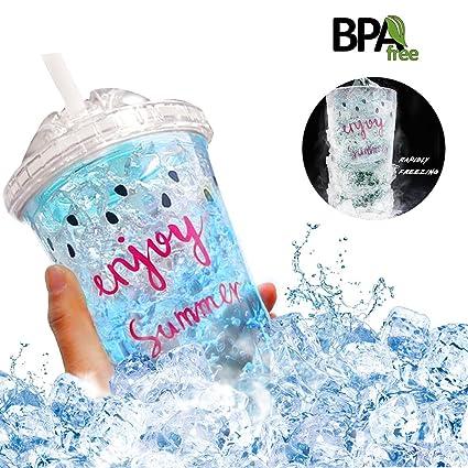 Amazon Com Frosty Mugs 16oz Double Wall Gel Frosty Freezer Bottle