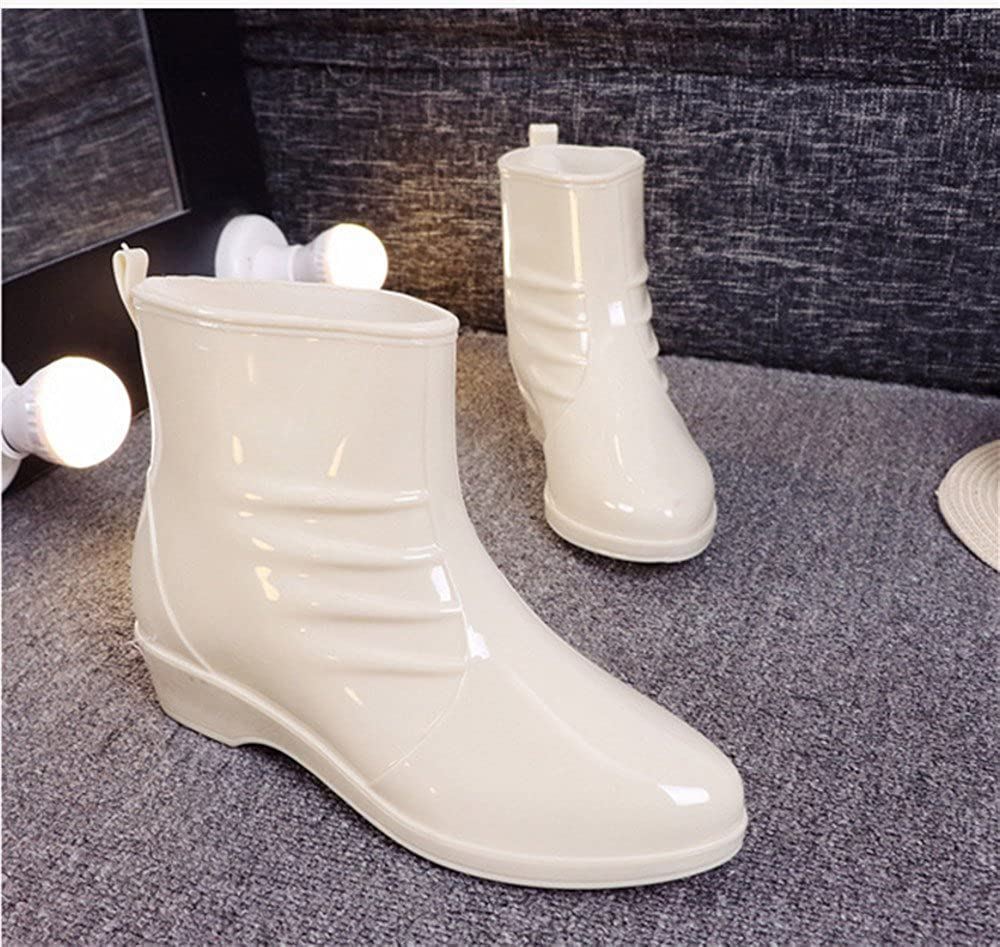 Believed Fashion Women Rain Boots Rubber Women Ankle Boots Waterproof Casual Comfort Ladies Martin Boots Shoes