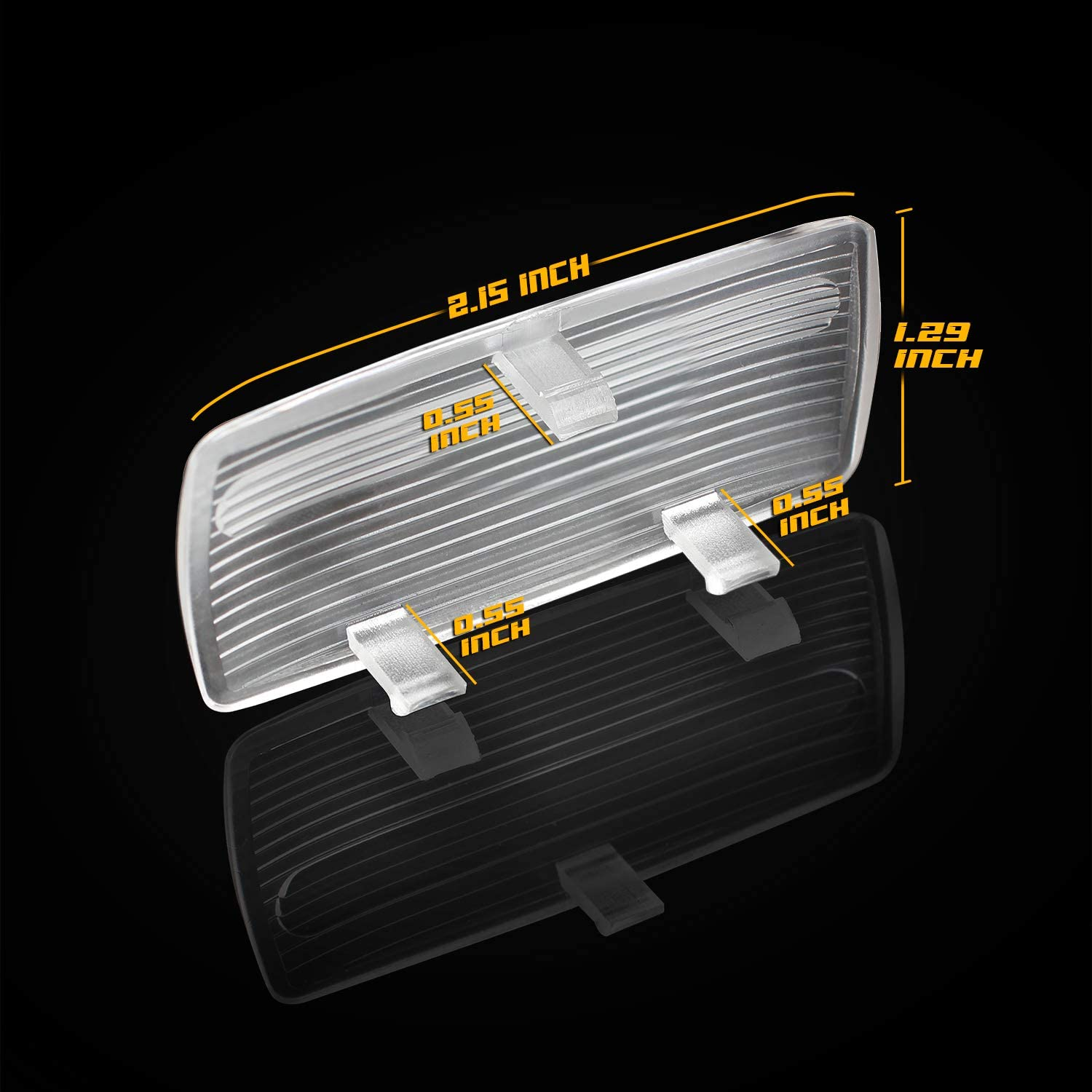 HERCOO Door Courtesy Light Cover Lens Interior Dome lamp Clear Housing for 34261-SV1-A01 Compatible with Honda 1994-2002 Accord 2003-2008 Pilot