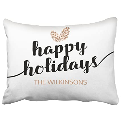 Musesh Accent Christmas Holiday Pine Cones Black White Decorative Cushions  Case Throw Pillow Cover for Sofa b088cb301207