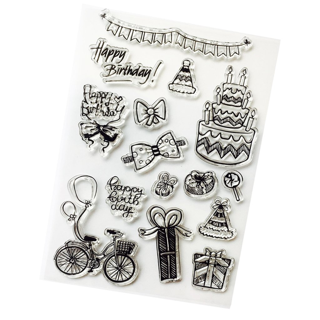 D DOLITY Clear Rubber Stamps Transparent Stamps Sheet for DIY Scrapbooking Christmas Card Making Travel Diary Photo Album Decoration Supplies - Snowflake