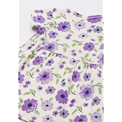 Floral Dot Touched By Nature Girl Organic Cotton Dress and Cardigan