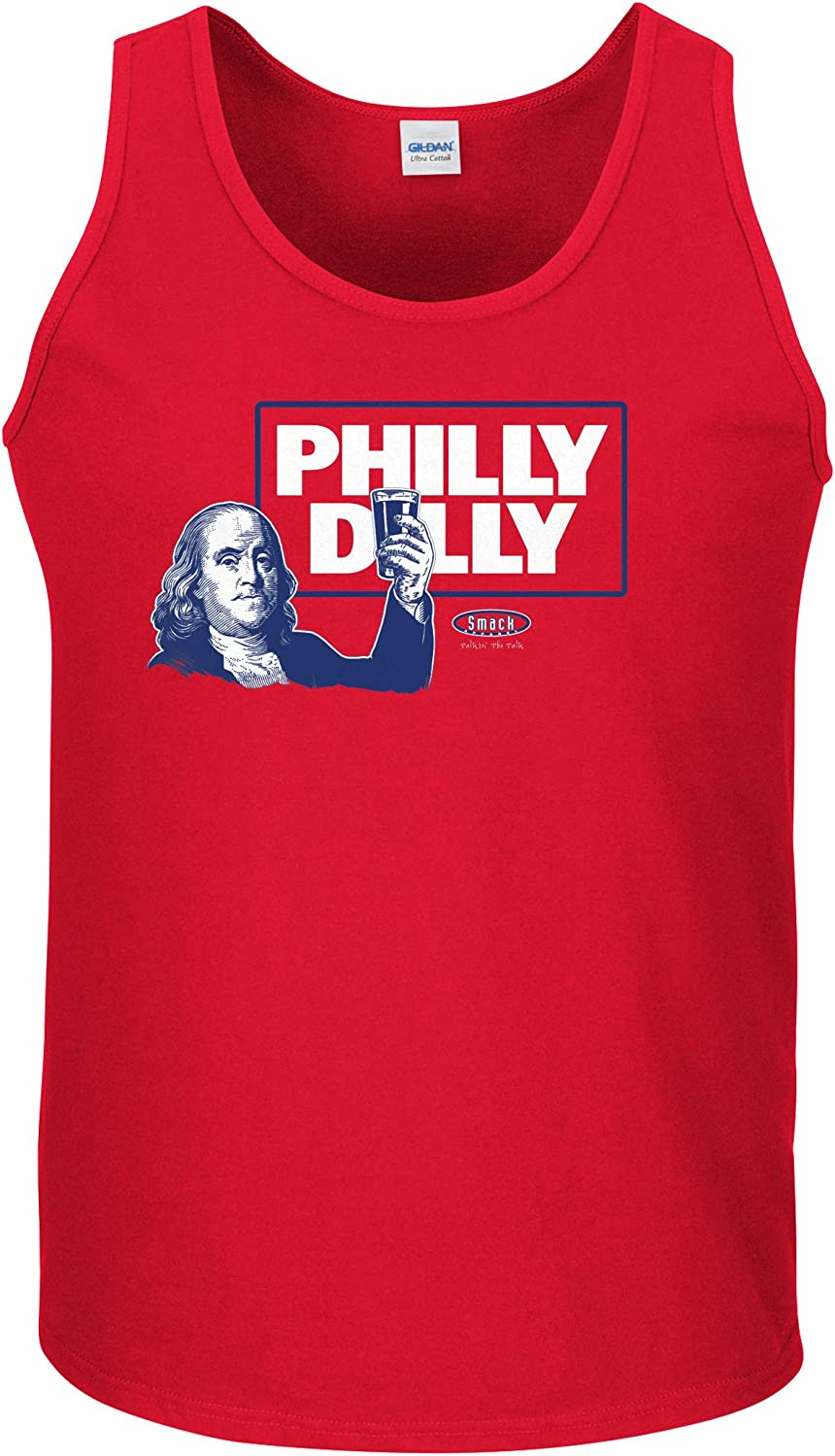 Philly Dilly Sm-5X Red T-Shirt Smack Apparel Philadelphia Baseball Fans