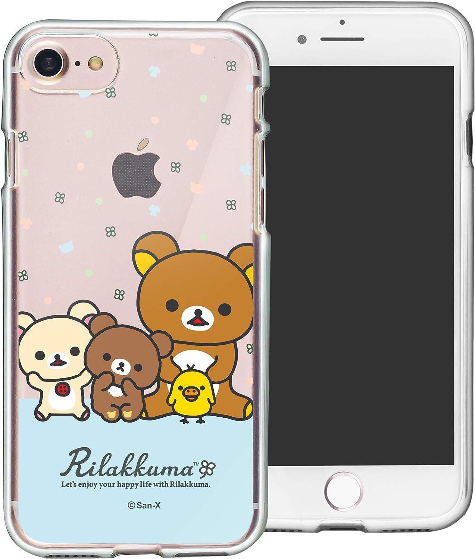 Compatible with iPhone SE 2020 / iPhone 8 / iPhone 7 Case (4.7inch) Rilakkuma Clear TPU Cute Soft Jelly Cover - Rilakkuma Friends