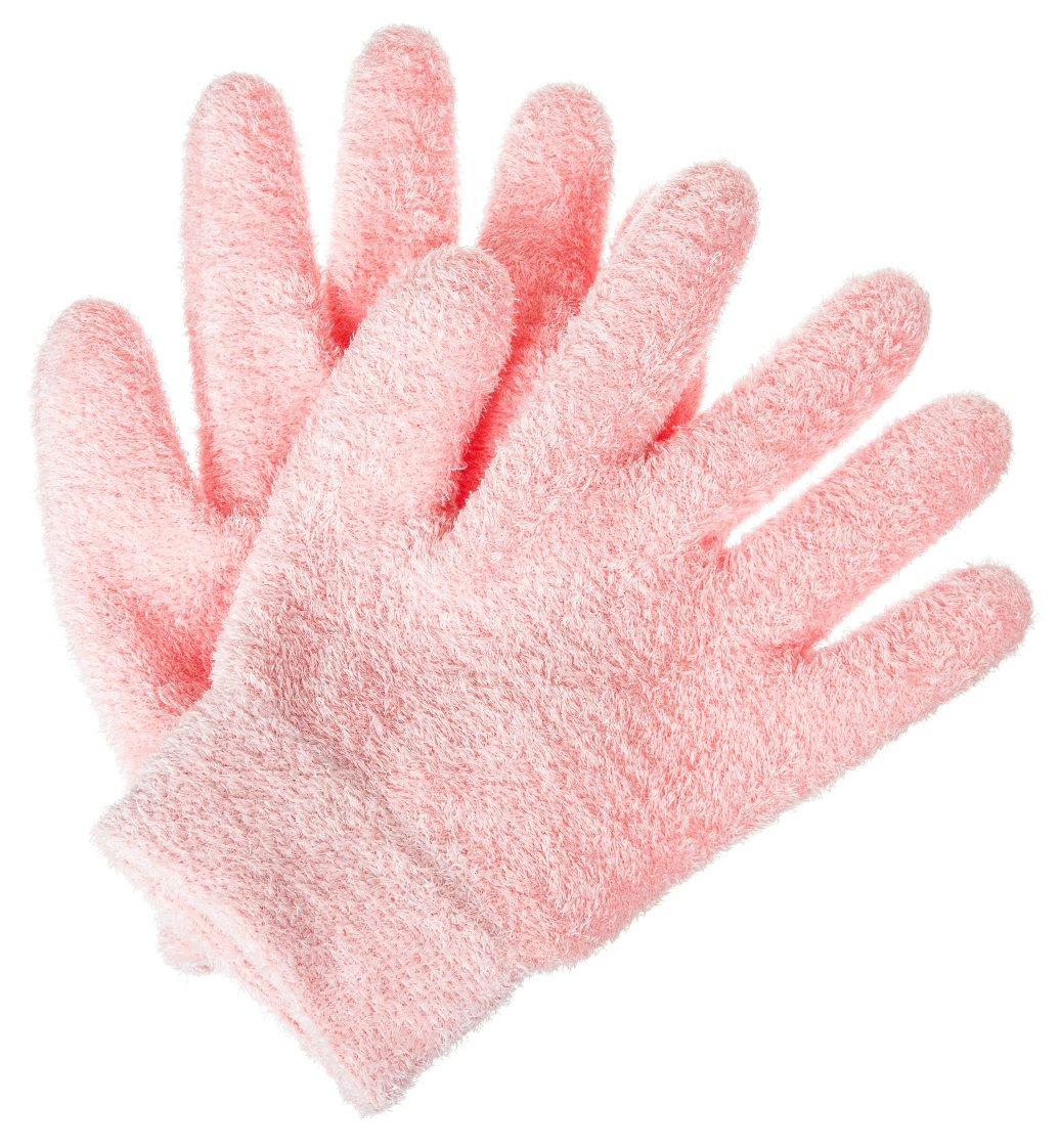Deseau Moisturizing Gloves, Soft Cotton with Thermoplastic Gel Lining - One Pair