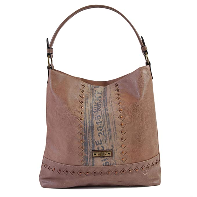 67482a5a06 Nikky Women s Fashion Street Style Design Brown Spacious Large Hobo Bag  Travel Shoulder