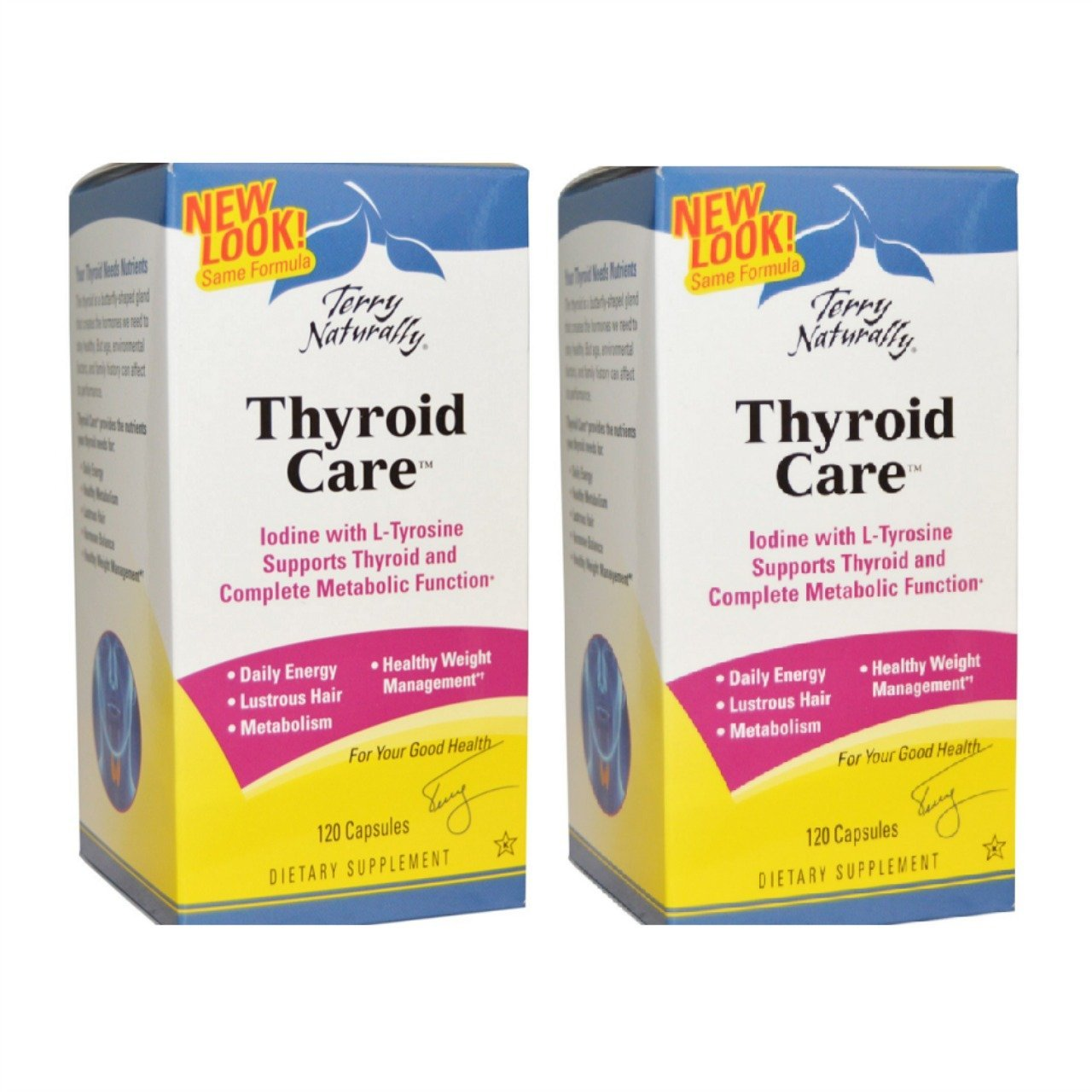 EuroPharma Terry Naturally -Thyroid Care |120 Capsules -2 Pack by Terry Naturally (Image #1)