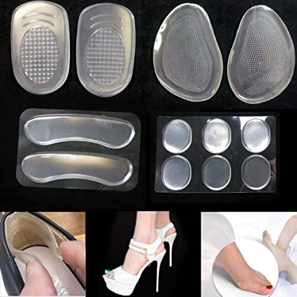 94bf5ee1a9 Image Unavailable. Image not available for. Color: 12Pc Silicone Gel  Cushion High Heel Shoe Protector Insoles Feet Arch Support Pad