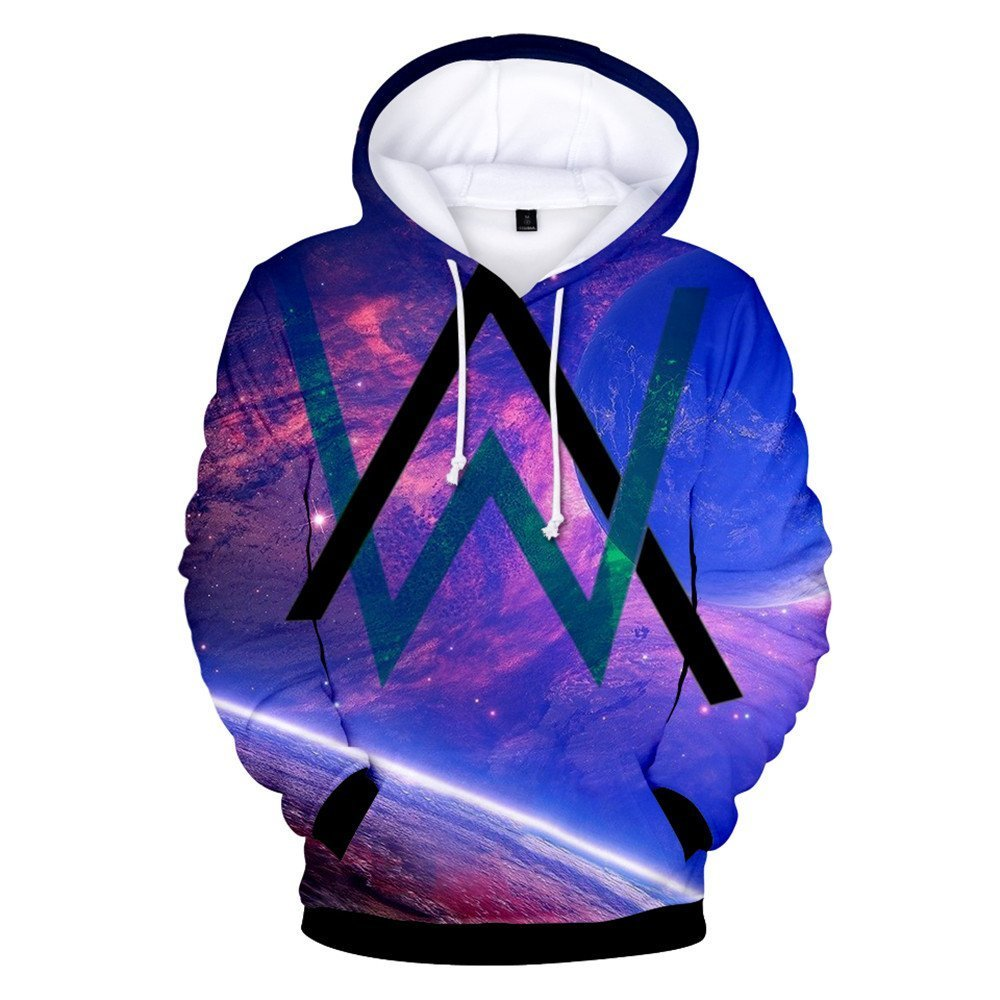 VOSTE Alan Walker Logo Hoodies 3D Printed Hooded Pullover Sweatshirt (X-Small, Color 10)