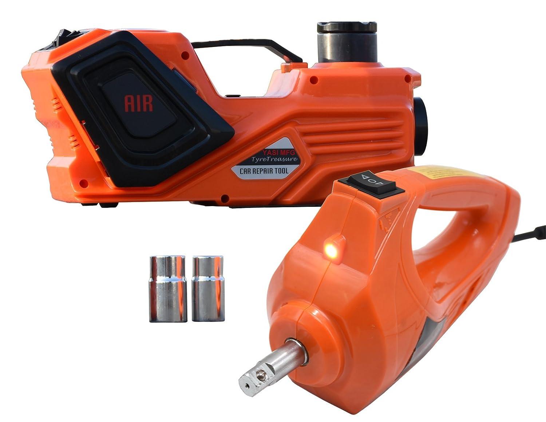 /45/cm elettrica a impatto 480/N.m Torque con doppio prese jack kit 12/V YASI MFG elettrico idraulico jack elettrico 5T hydraulic Lifter 15.5/