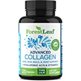 Advanced Collagen Supplement, Type 1, 2 and 3 with Hyaluronic Acid and Vitamin C - Anti Aging Joint Formula - Boosts Hair, Na