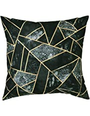 Skang Pillowcase 45x45cm Cotton Blended Flannel Fresh Geometric Green Plant A Variety Of Style Collection Print Square Home Decoration Pillowcase Sofa Lumbar Cover Pillowcase