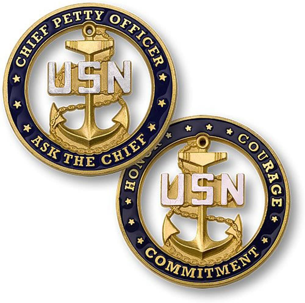 U.S. Navy Chief Petty Officer Ask The Chief Challenge Coin