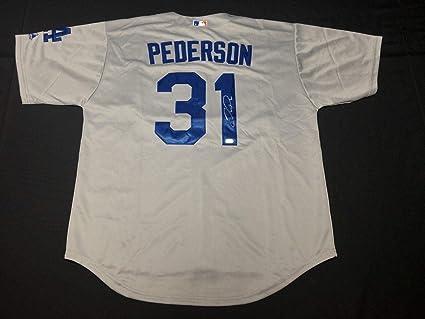 official photos bac41 8eb7d Joc Pederson Autographed Jersey - Grey HZ 766376 ...