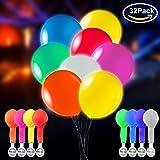 32 Stück LED Leuchtende Luftballons Blinkendes Licht - Gemischte Farbe für Weihnachten / Geburtstag / Hochzeitsfest