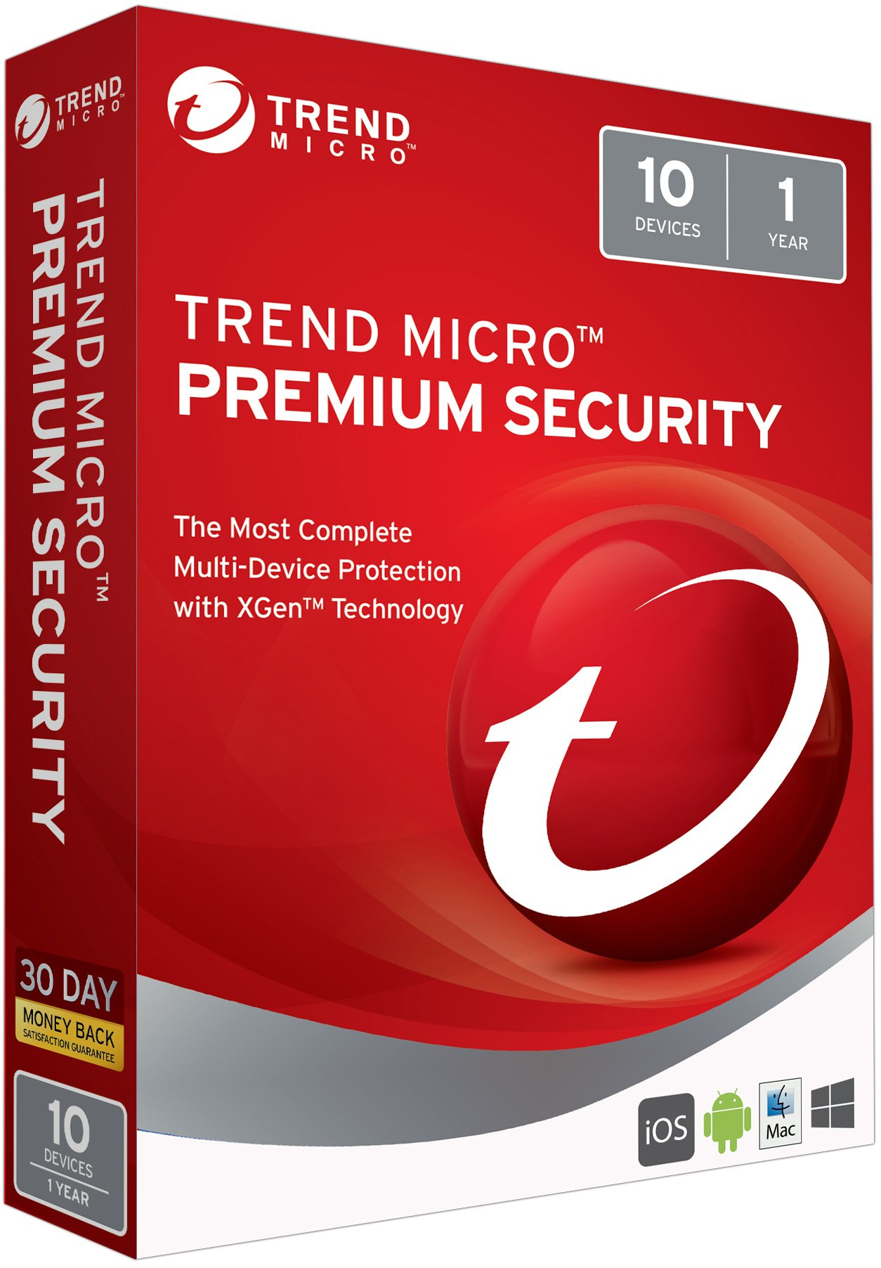 Trend Micro Max Premium Security 2018 10 User [Key Card] by Trend Micro